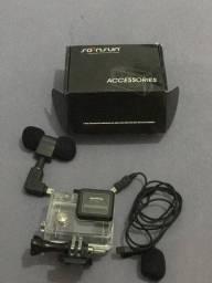 Microfone Lapela + caixinha da GoPro