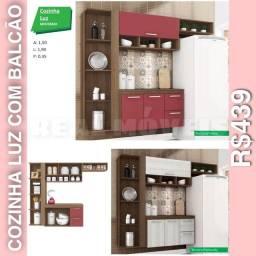 Armário de cozinha com balcão armário de cozinha com balcão armário de cozinha LUZ 02092
