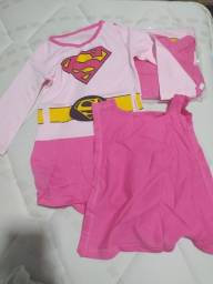 Macacão bebê super girl