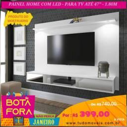 BOTA FORA JANEIRO / PAINEL COM ESPELHO E LED TV P/ até 47'
