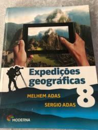 Livro didático em ótimo estado! Expedições geograficas 8 ano