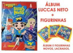 Álbum luccas neto + figurinhas
