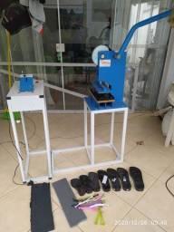 Aparelho manual Compacta Print para fabricação de chinelos
