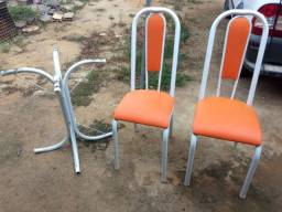 Mesa mármore 2 cadeiras