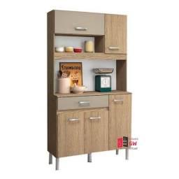 Cozinha Compacta 5 Portas 1 Gaveta Feita em MDP Magazin 90 Nicioli
