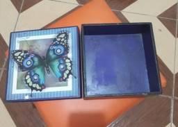 Porta Joia Blue Butterfly