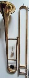 Trombone Com Vara Eagle Tv600 5106 Em Sib Dourado