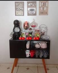 Rack aparador cantinho do café barzinho 80x80 estilo retrô SOB ENCOMENDA