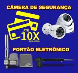 Portao Eletronico e Cameras de Segurança