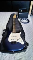 Guitarra +case+ amp + cabo e alavanca