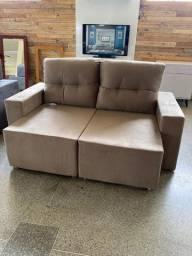 Sofá 1,90 retrátil reclinável novo!!