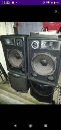 Teclado korg pa900 e equipamento de som completo