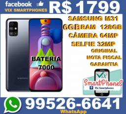 Novo Samsung M51 128GB 6GB_ram Bateria-7000 camera-64MP 3382rctly//*