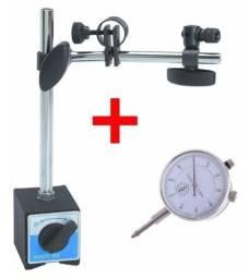Relógio Comparador + Base Magnética Novo