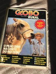 revista globo rural n1,  14, 17 e 18