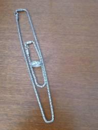 Corrente, pulseira e anel prata Bali