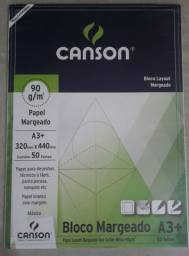 Bloco Papel Canson Layout 90g A3 50 Folhas
