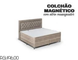 Colchão magnético com vibro massageador, tenha ótimas noites de sono