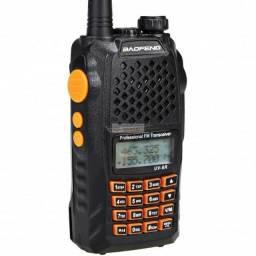 Rádio Comunicador HT Dual Band Baofeng Uv-6R + Fone<br><br>