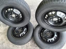Roda 13 VW gol g4 , Parati,  savero etc. +pneus Meia vida 370,00 ac/13,14,15