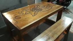 mesa de cedro.produto novo.fabricacao propria