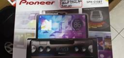 Midia   USB, auxiliar  bluetooth. C/ suporte para celular. Interno. Novo. R$ 900,00.