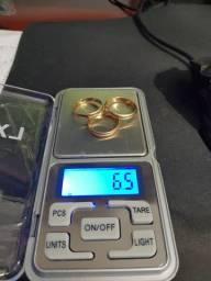 Alianças de ouro. 6.5 gramas
