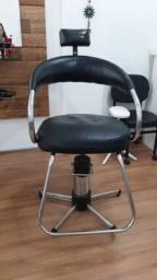 Cadeira hidráulica cabelereiro