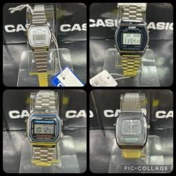 Casio Vintage / Retro prata c/ caixa