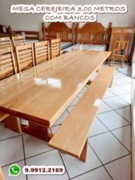 Mesa Para Área Externa de Vários Tamanhos na Madeira Maciça Cerejeira . Whats 9.9912.2169