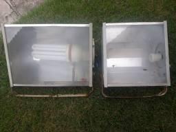 Holofotes de alumínio