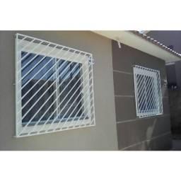 Grades de portas/janelas novas, galvanizadas e pinta a pó