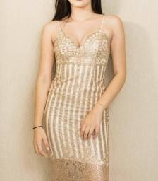 Vestido glitter - pp