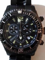 Invicta Black Plated Cronograph Swiss Movement