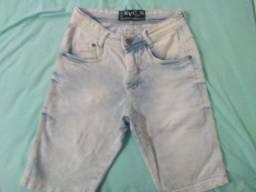 Short jeans branco / claro