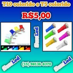 Título do anúncio: LED T10 e T5 COLORIDA