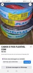 Cabos e FIOS FLEXÍVEL E MATERIAL ELETRICO Aparti de 80 reais