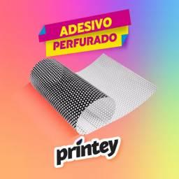 Perfurado Adesivos Impressos Personalizados