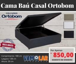 Título do anúncio: Cama Box Báu Ortobom - Frete Grátis
