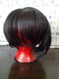 Peruca  chanel preta (cabelo humano )