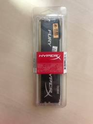 Memória RAM 8gb DDR4 hyprerx Fury 2666mhz black