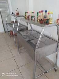 Balcão Expositor para restaurante