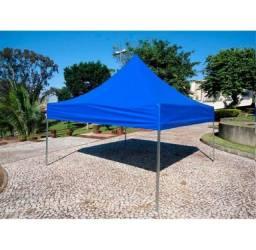 Tenda Sanfonada Emborrachada 3x3 Azul #ProntaEntrega