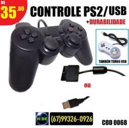 Controle para PS2/USB Long Life (entregamos)