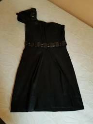 Lindo vestido preto festivo tamanho 34/36!