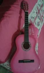 Vendo violão pouco usado cor rosa e capa rosa!