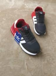 Tênis Adidas Neo preto vermelho