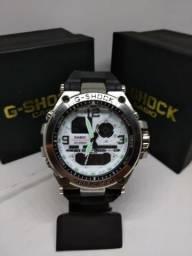 2a8195895b6 Lindo Relógio G Shock Metal Prata com branco