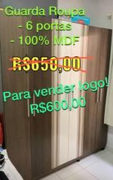 Guarda Roupa 6 portas 100% MDF