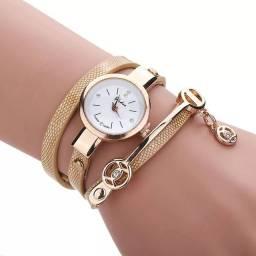 Relógio vintage bracelete, cor dourada entregas gratis no vae do aço
